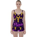 Prince Poster Tie Front Two Piece Tankini