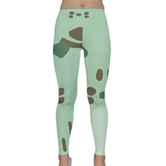 Lineless Background For Minty Wildlife Monster Classic Yoga Leggings by Mariart