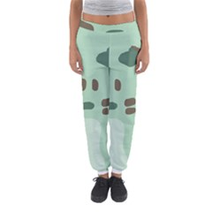 Lineless Background For Minty Wildlife Monster Women s Jogger Sweatpants by Mariart