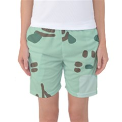 Lineless Background For Minty Wildlife Monster Women s Basketball Shorts by Mariart