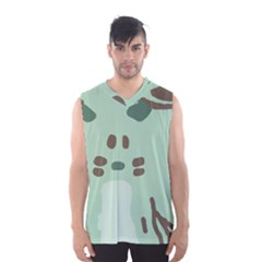 Lineless Background For Minty Wildlife Monster Men s Basketball Tank Top by Mariart