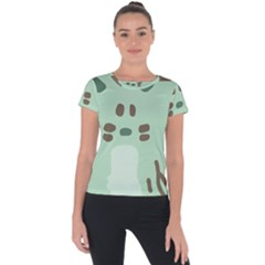 Lineless Background For Minty Wildlife Monster Short Sleeve Sports Top  by Mariart