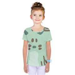 Lineless Background For Minty Wildlife Monster Kids  One Piece Tee by Mariart