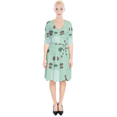 Lineless Background For Minty Wildlife Monster Wrap Up Cocktail Dress by Mariart