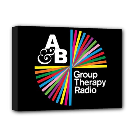 Above & Beyond  Group Therapy Radio Deluxe Canvas 16  X 12   by Onesevenart