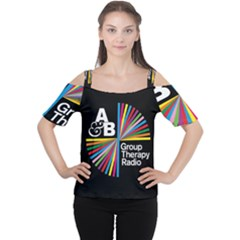 Above & Beyond  Group Therapy Radio Cutout Shoulder Tee by Onesevenart