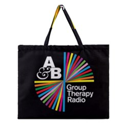 Above & Beyond  Group Therapy Radio Zipper Large Tote Bag by Onesevenart