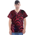 Bassnectar Galaxy Nebula Men s V-Neck Scrub Top
