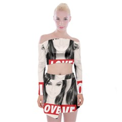 Sasha Grey Love Off Shoulder Top With Skirt Set