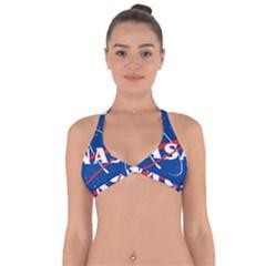 Nasa Logo Halter Neck Bikini Top by Onesevenart