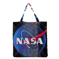 Nasa Logo Grocery Tote Bag by Onesevenart