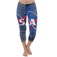 Nasa Logo Capri Winter Leggings  by Onesevenart