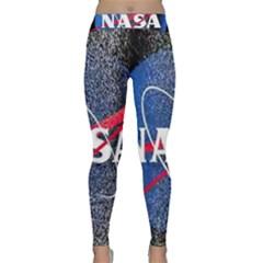 Nasa Logo Classic Yoga Leggings by Onesevenart