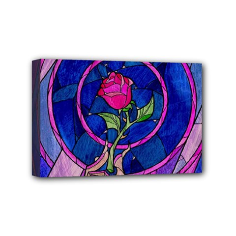 Enchanted Rose Stained Glass Mini Canvas 6  X 4  by Onesevenart