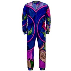Enchanted Rose Stained Glass Onepiece Jumpsuit (men)  by Onesevenart