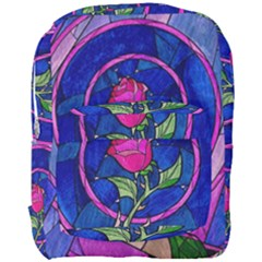 Enchanted Rose Stained Glass Full Print Backpack by Onesevenart