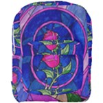 Enchanted Rose Stained Glass Full Print Backpack