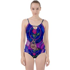 Enchanted Rose Stained Glass Cut Out Top Tankini Set by Onesevenart