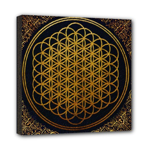 Bring Me The Horizon Cover Album Gold Mini Canvas 8  X 8  by Onesevenart