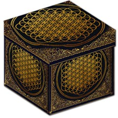 Bring Me The Horizon Cover Album Gold Storage Stool 12   by Onesevenart