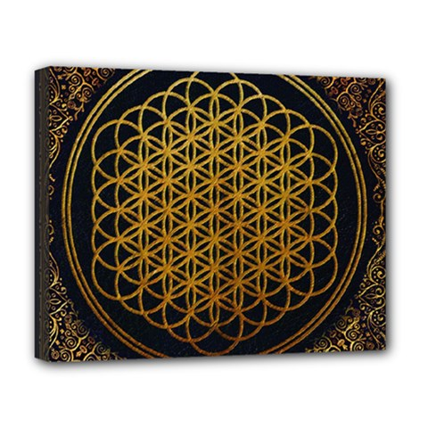 Bring Me The Horizon Cover Album Gold Deluxe Canvas 20  X 16   by Onesevenart