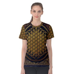 Bring Me The Horizon Cover Album Gold Women s Cotton Tee by Onesevenart