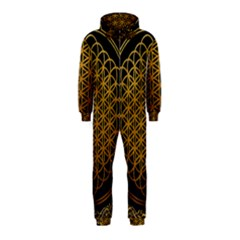 Bring Me The Horizon Cover Album Gold Hooded Jumpsuit (kids) by Onesevenart