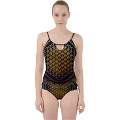 Bring Me The Horizon Cover Album Gold Cut Out Top Tankini Set by Onesevenart