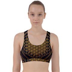 Bring Me The Horizon Cover Album Gold Back Weave Sports Bra by Onesevenart