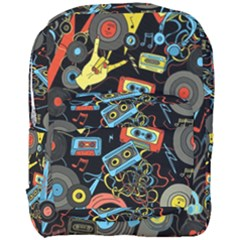 Music Pattern Full Print Backpack by Onesevenart