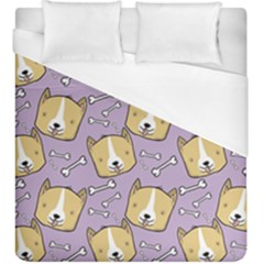 Corgi Pattern Duvet Cover (king Size)
