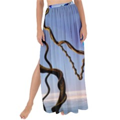 Wonderful Blue  Parrot Looking To The Ocean Maxi Chiffon Tie Up Sarong