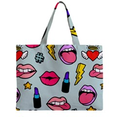 Lipstick Lips Heart Valentine Star Lightning Beauty Sexy Zipper Mini Tote Bag by Mariart