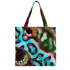 Multiscale Turing Pattern Recursive Coupled Stone Rainbow Zipper Grocery Tote Bag by Mariart