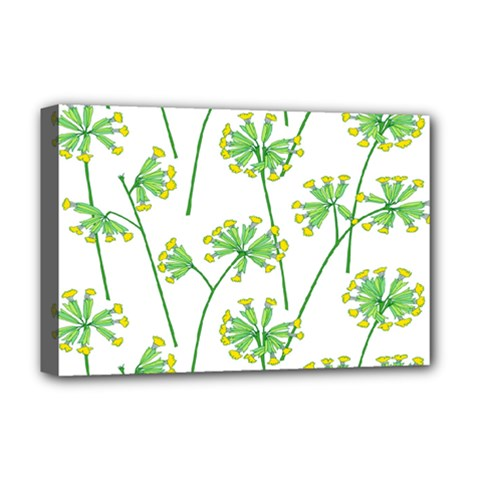 Marimekko Fabric Flower Floral Leaf Deluxe Canvas 18  X 12   by Mariart