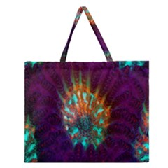 Live Green Brain Goniastrea Underwater Corals Consist Small Zipper Large Tote Bag by Mariart