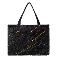 Neurons Light Neon Net Medium Tote Bag by Mariart