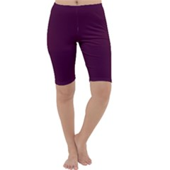 Black Cherry Cropped Leggings  by SimplyColor