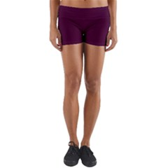 Black Cherry Yoga Shorts by SimplyColor