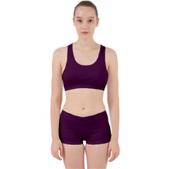 Black Cherry Work It Out Sports Bra Set