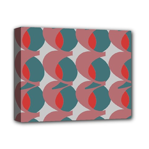 Pink Red Grey Three Art Deluxe Canvas 14  X 11  by Mariart