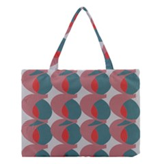 Pink Red Grey Three Art Medium Tote Bag by Mariart