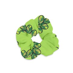 Seamless Background Green Leaves Black Outline Velvet Scrunchie by Mariart
