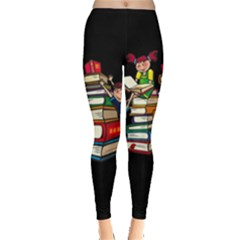 Back To School Leggings  by Valentinaart