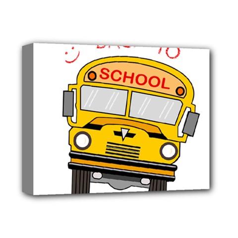 Back To School   School Bus Deluxe Canvas 14  X 11  by Valentinaart