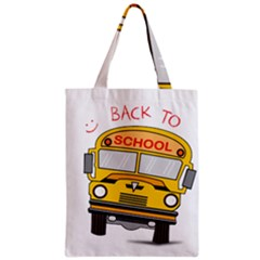 Back To School   School Bus Classic Tote Bag by Valentinaart
