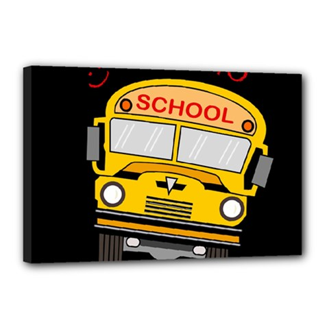 Back To School   School Bus Canvas 18  X 12  by Valentinaart