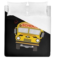 Back To School   School Bus Duvet Cover (queen Size) by Valentinaart