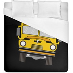 Back To School   School Bus Duvet Cover (king Size) by Valentinaart