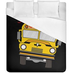 Back To School   School Bus Duvet Cover (california King Size) by Valentinaart